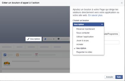 Facebook - Configuration du bouton